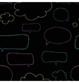 Seamless pattern with speech bubbles vector image