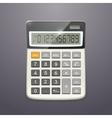 single realistic calculator top view vector image