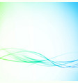 soft futuristic abstract speed wave lines layout vector image vector image