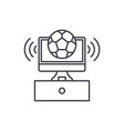 sports broadcast line icon concept sports vector image