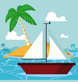 summer and sailboat vector image vector image