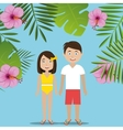 Summer travel and vacation vector image vector image