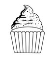 sweet cupcake pastry isolated icon vector image vector image