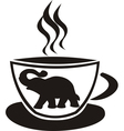 Tea cup with elephant vector | Price: 1 Credit (USD $1)