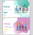 teamwork strategy and success startup web vector image vector image
