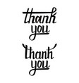 thank you postcard set hand drawn greeting card vector image vector image