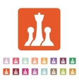 The chess icon Game symbol Flat vector image vector image
