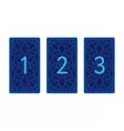 Three card tarot spread Reverse side vector image