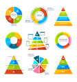 triangles pyramids and round elements for vector image vector image