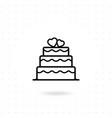 valentine cake icon vector image vector image