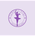 vintage woman girl female ballerina ballet dancer vector image