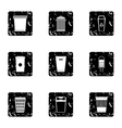 Waste rubbish icons set grunge style vector image vector image