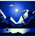 Landscape of the sea at night idyllic vector image