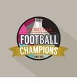 Football Champions Badge vector image