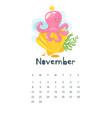 2020 calendar page vector image