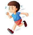 A kid running vector image