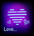 bright heart neon sign ready for your design vector image vector image
