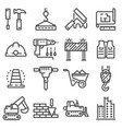 building construction and home repair vector image vector image