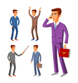 Businessman wearing suits business businessman vector image vector image