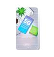 cellphone on desktop 5g online communication vector image vector image