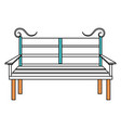 chair park isolated icon vector image vector image
