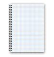 cheked notebook vector image