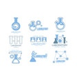 chemical laboratory facility logo graphic design vector image