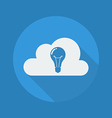 Cloud Computing Flat Icon Lightbulb vector image vector image