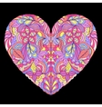 colorful heart on black background vector image vector image