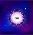 coronavirus covid19-19 sars-cov-2 on a blue vector image vector image