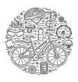 creative of active lifestyle vector image vector image