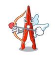 cupid clothes peg character cartoon vector image