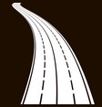 curved road gray colors vector image vector image