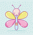 cute butterfly cartoon vector image vector image