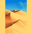 desert scenery art vector image vector image