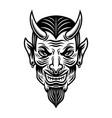 devil or lucifer head monochrome vector image vector image