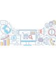 digital marketing - modern line design style vector image