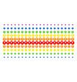 electricity shape halftone spectrum pattern vector image
