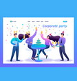 employees company have fun corporate party vector image