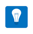 energy and idea symbol light bulb icon in blue vector image
