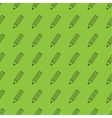 Flat pencil seamless pattern vector image