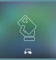 heart card icon vector image
