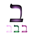 Hebrew font The Hebrew language Letter vet vector image vector image