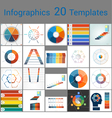 Infographics 20 Templates text area 6 positions vector image vector image