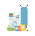 laundry service elements washind machine vector image