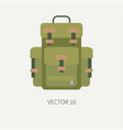 line tile color hunt and camping icon - vector image vector image