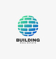 logo building gradient colorful style vector image