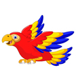 macaw bird cartoon flying vector image vector image