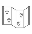 map location pins vector image