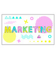 marketing poster geometric figures in linear style vector image